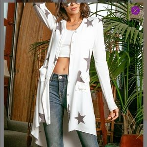 Ivory And Star side pocket cardigan